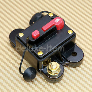CAR-AUDIO-STEREO-100-AMP-12V-DC-CIRCUIT-BREAKER-REPLACE-FUSE-100A-12VDC-100AMP