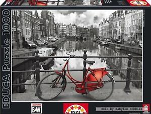 1000 pcs jigsaw puzzle: Black and White - Amsterdam Netherlands (Netherlands)