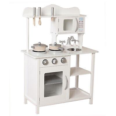 Kids Wooden Play Kitchen in White Children\'s Role Play Pretend Set Toy  White | eBay