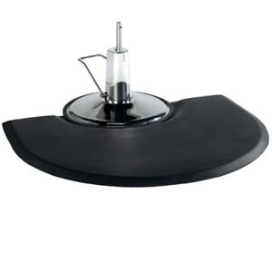 """Barber Salon Styling Chair Mat Semi Circle 1/2"""" with Round Impression SM-31"""