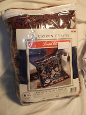 CROWN CRAFTS WOVEN AFGHAN THROW/TOSS TAPESTRY BLANKET ATLANTA BRAVES HANK AARON