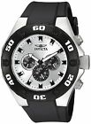 Invicta Men's 21403 Specialty Chronograph 50mm Silver Dial Black Rubber Watch
