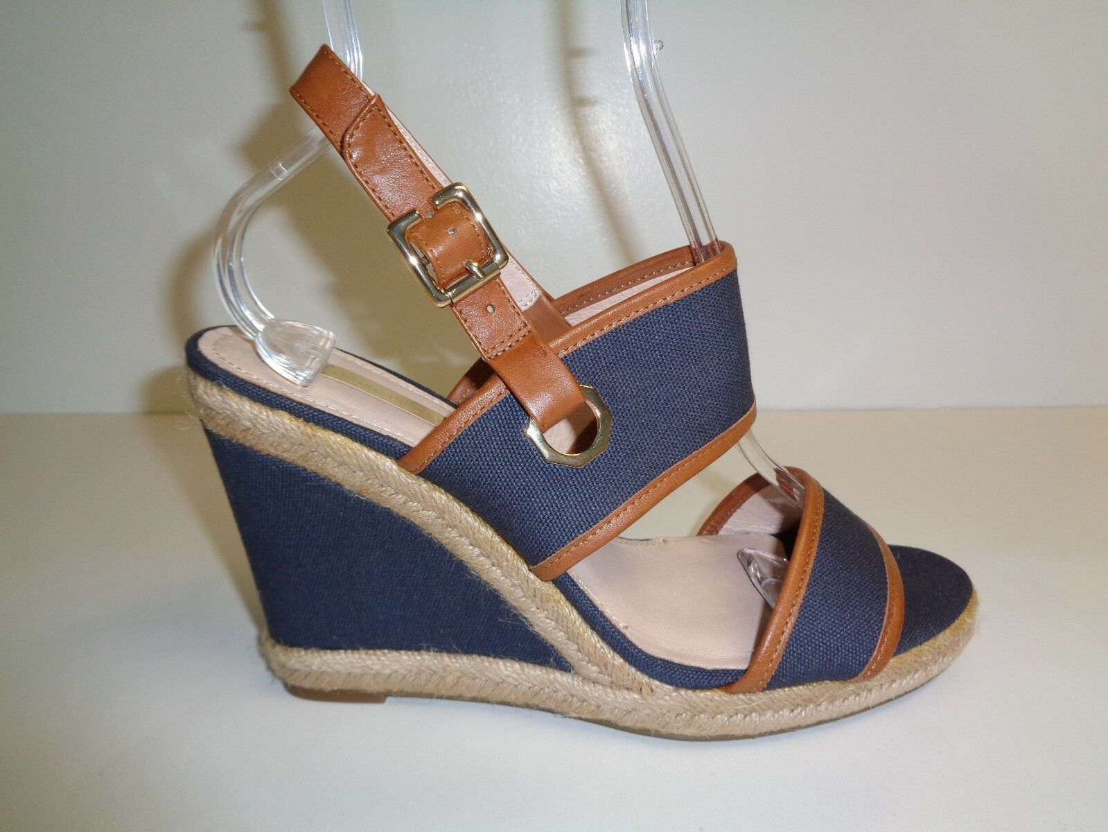 Louise et Cie Größe 9.5 M REBEKAH Navy Leder Fabric Sandales NEU Damenschuhe Schuhes