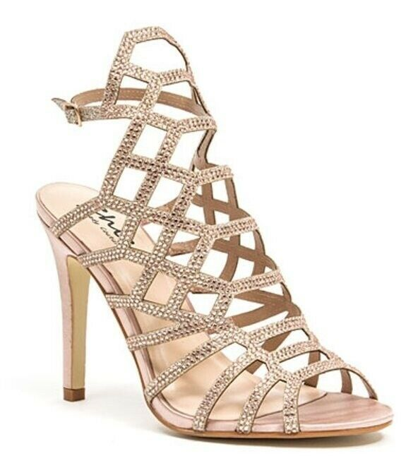 Lady Couture Wouomo Kent Kent Kent Classic Gladiator Embellished Heels Champagne fa034d
