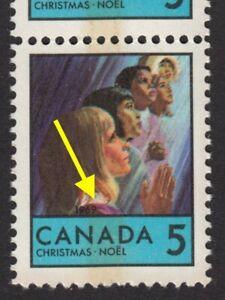 PINK-COLLAR-Error-Variety-Unlisted-Canada-1969-502p-MNH-ec159