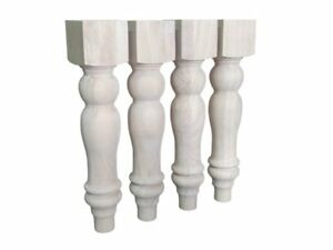 16 Unfinished Farmhouse Bench Legs Or Coffee Table Legs Set Of 4