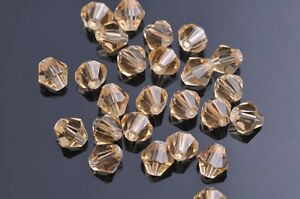 200pcs-4mm-Bicone-Faceted-Crystal-Glass-Loose-Spacer-Beads-Gold-Champagne