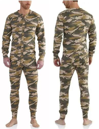 CARHARTT UNION SUIT Midweight CAMOUFLAGE Camo Long Underwear Work Warm Outdoors