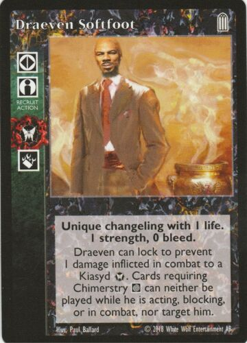 Draeven Softfoot x1 Heirs to the Blood Reprint 2 HttB R2 VTES Jyhad