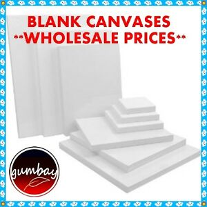 10 x Standard Blank Artist Stretched Canvas 10x10X2CM WHOLESALE PRICES BULK LOTS