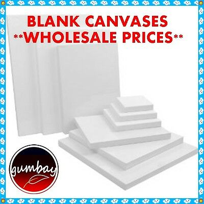 20 x Standard Blank Artist Stretched Canvas 10x10X2CM WHOLESALE PRICES BULK LOTS
