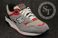 New Balance Men's The Elite Edition 1600 Sneaker in Grey Red & Black Sneakers Shoes
