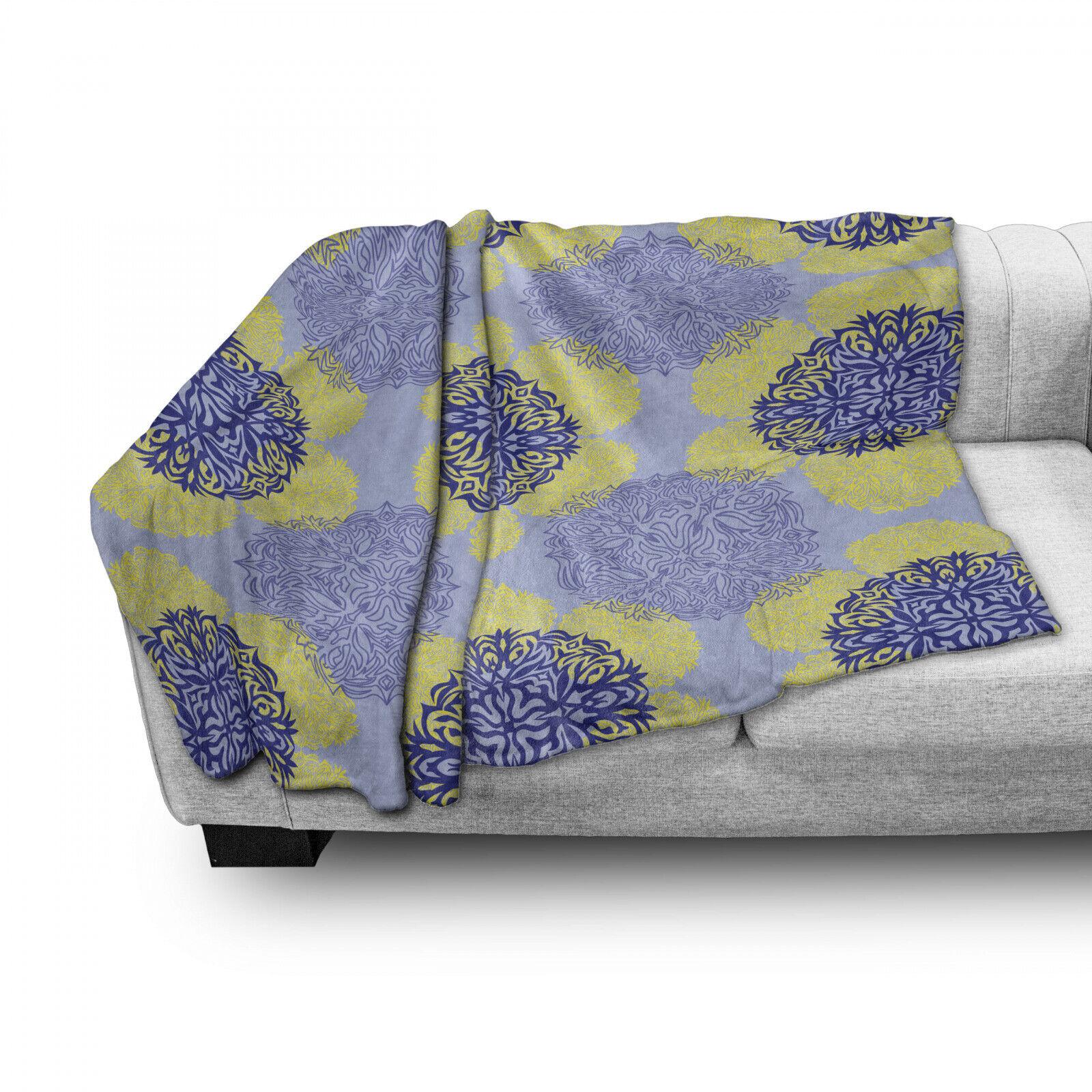 Geometrisch Weich Flanell Fleece Decke Asian Style Kunst Symbole