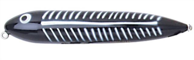 """Heddon X9255XBW 4-1//2/"""" Zara Spook 3//4 Oz Black Shore Minnow 14525"""