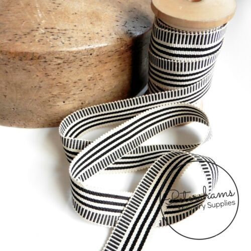 1m 25mm No.5 Irregular Stripe Millinery Petersham Hat Ribbon for Hat Making
