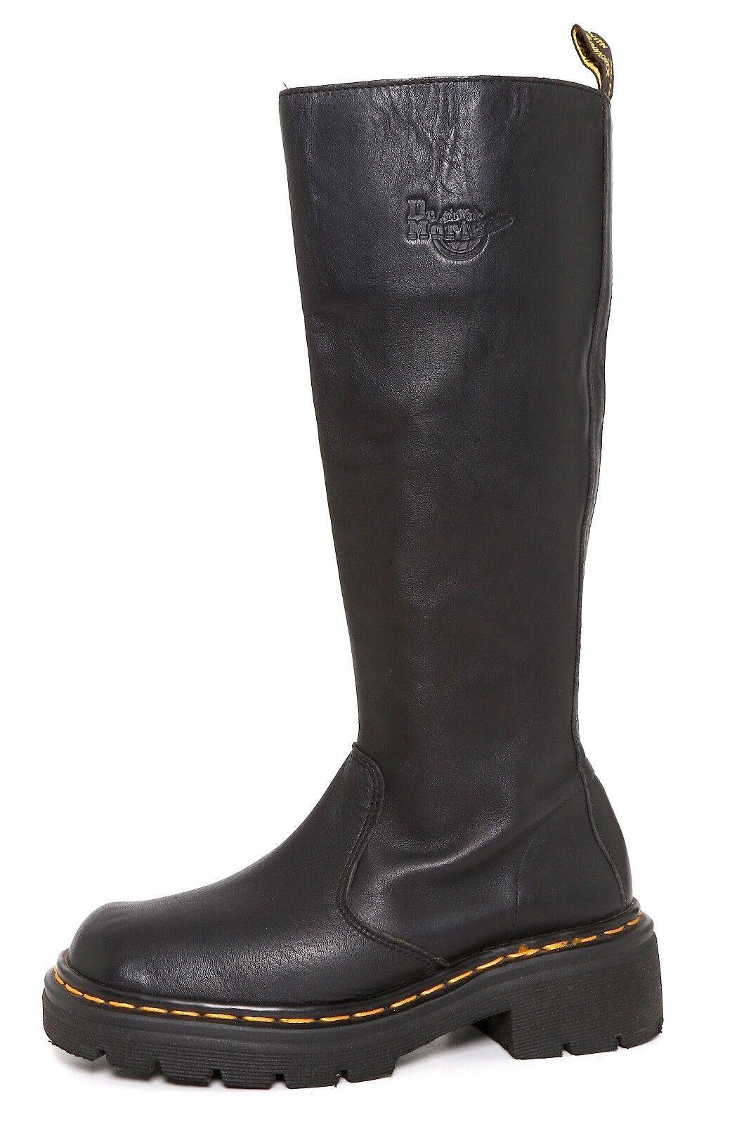 Dr Martens Zip Up Leather Boots Black Women Sz 5 3171
