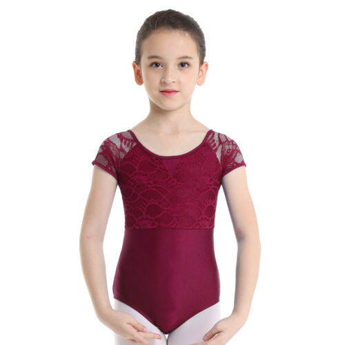 UK Girls Ballet Dance Leotard Gymnastics Training Bodysuit Performing Costume