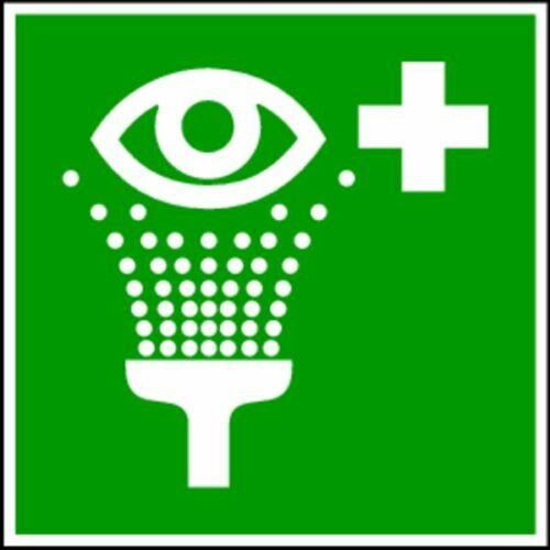Rettungszeichen 100x100 mm Folie selbstklebend #2960//60 Augenspüleinrichtung