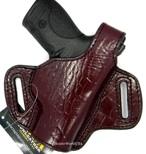 Choose Gun /& Color TAGUA PREMIUM Leather Thumb Break RH OWB Belt Holster
