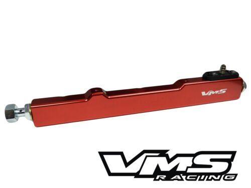 VMS RACING B16 B17 B18 B20 HONDA ACURA CNC HIGH FLOW FUEL RAIL KIT RED