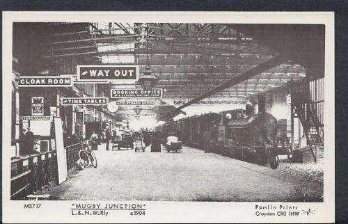 Warwickshire Postcard Mispelt Mugby Rugby Railway Station Junction A2072