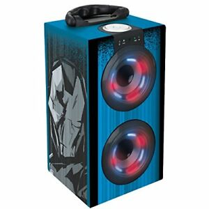 Avengers-Los-Vengadores-Torre-De-Sonido-Portatil-Y-Luminosa-con-Bluetooth-Azul