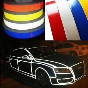 car reflective body self adhesive 150feet glow in the dark strip vinyl neon tape ebay. Black Bedroom Furniture Sets. Home Design Ideas