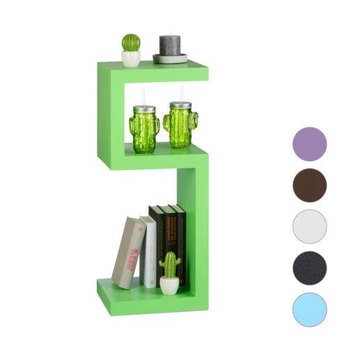Standregal Retro Bücherregal mit 3 Ablagen Stehregal freistehend einfarbig 30cm