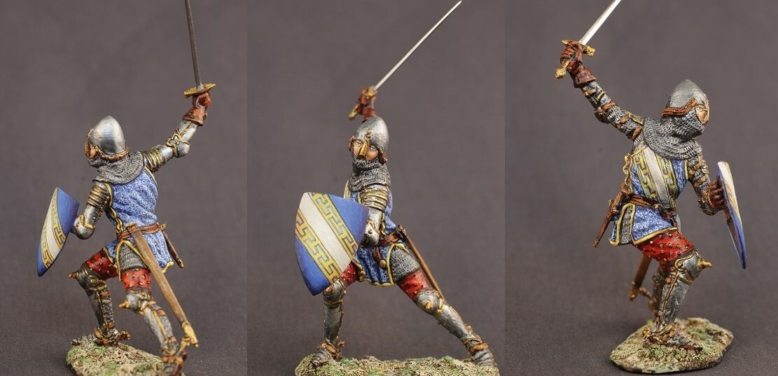 Tin toy soldiers ELITE painted 54 mm The Spanish Knight, 1367
