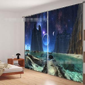 3D Universe 751 Cortinas de impresión de cortina de foto Blockout Tela Cortinas Ventana Reino Unido