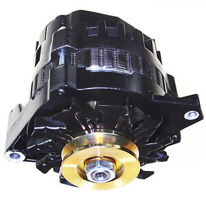 NEW BLACK HIGH OUTPUT ALTERNATOR FITS CHEVY GM 220 AMP 1