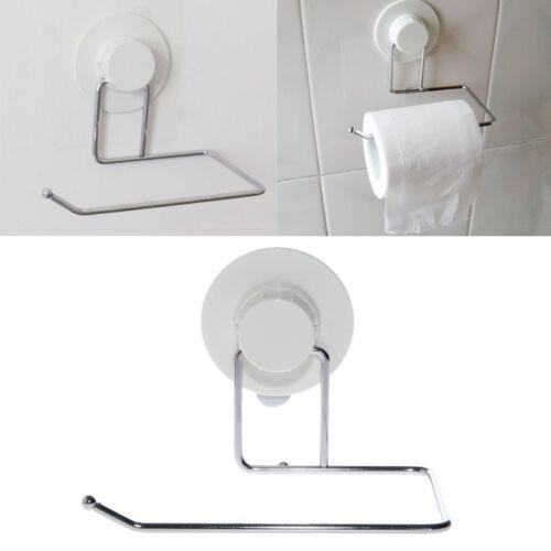 Toilet Paper Holder Suction Hanger Tissue Rack Kitchen Towel Hook Bathroom