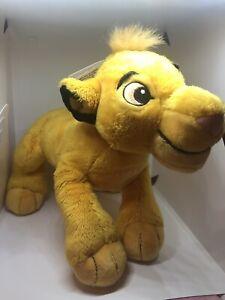 Disney-Parks-Walt-Disney-World-Lion-King-Simba-Soft-Toy-10-034-Brand-New-BNWT