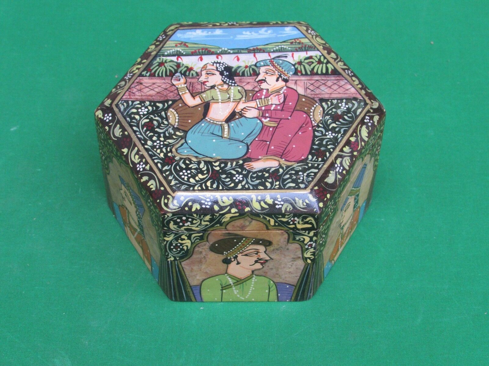 Marble Jewelry Box Trinket shah jahan mumtaz Handpainted Gifts and Home Decor