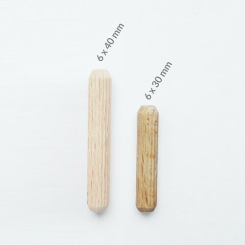 6x30 6x40 Auswahl Holzdübel 6mm Riffeldübel Buche Holz Dübel Holzstifte