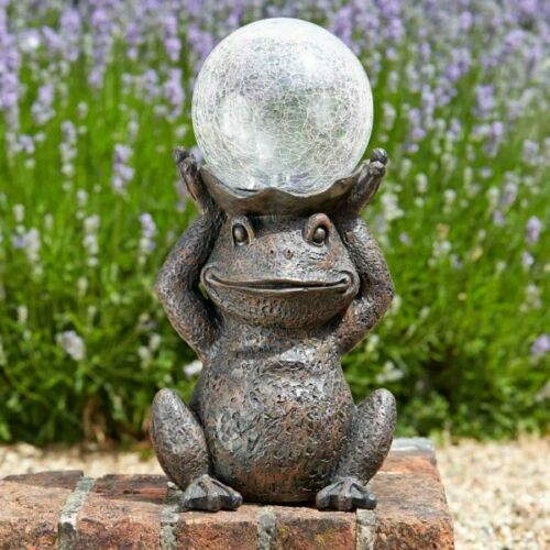 Solar Powered Frog Garden Patio Path Solar Colour Changing LED Light Ornament