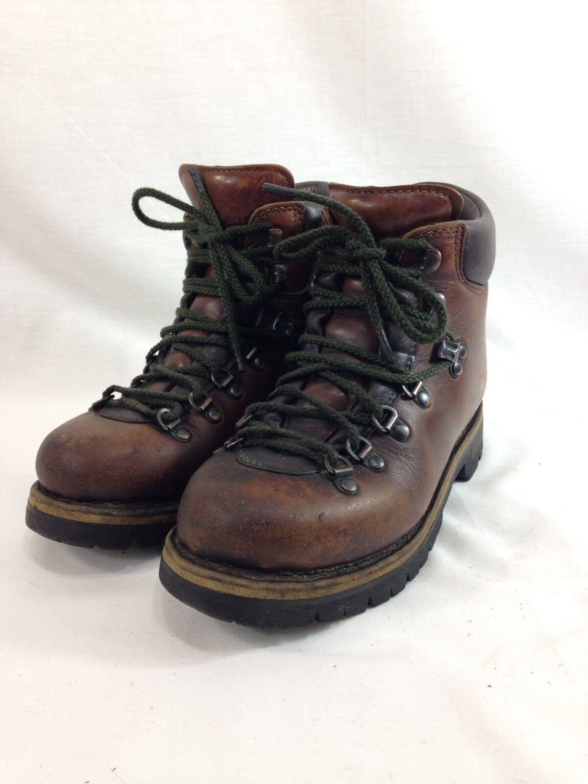 botas Vintage Ll Bean Senderismo Montañismo Escalada Italia marrón de cuero para mujer 7