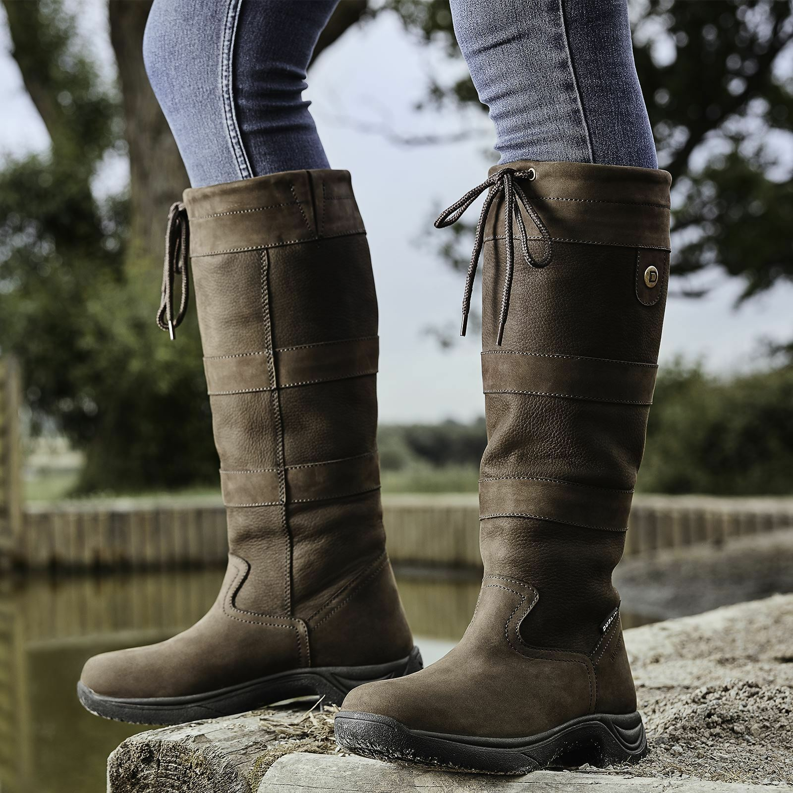 Nuevas damas damas damas de Dublín Río III impermeable perro caminar Equitación botas De País a02ca7