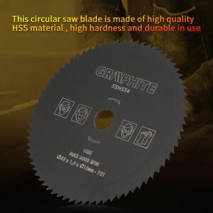 85mm-10mm-72T-HSS-Lame-Scie-Circulaire-Tronconner-Disque-Bois-Metal-durable