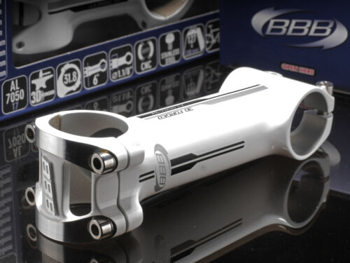 NEW stem BBB 31.8 1.1//8 CNC ALLOY 3D FORGED 6° White BHS-51