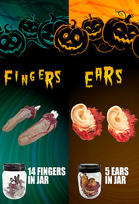 Decoration Prop Halloween Zombie Haunted House Party Sever Finger and Ears