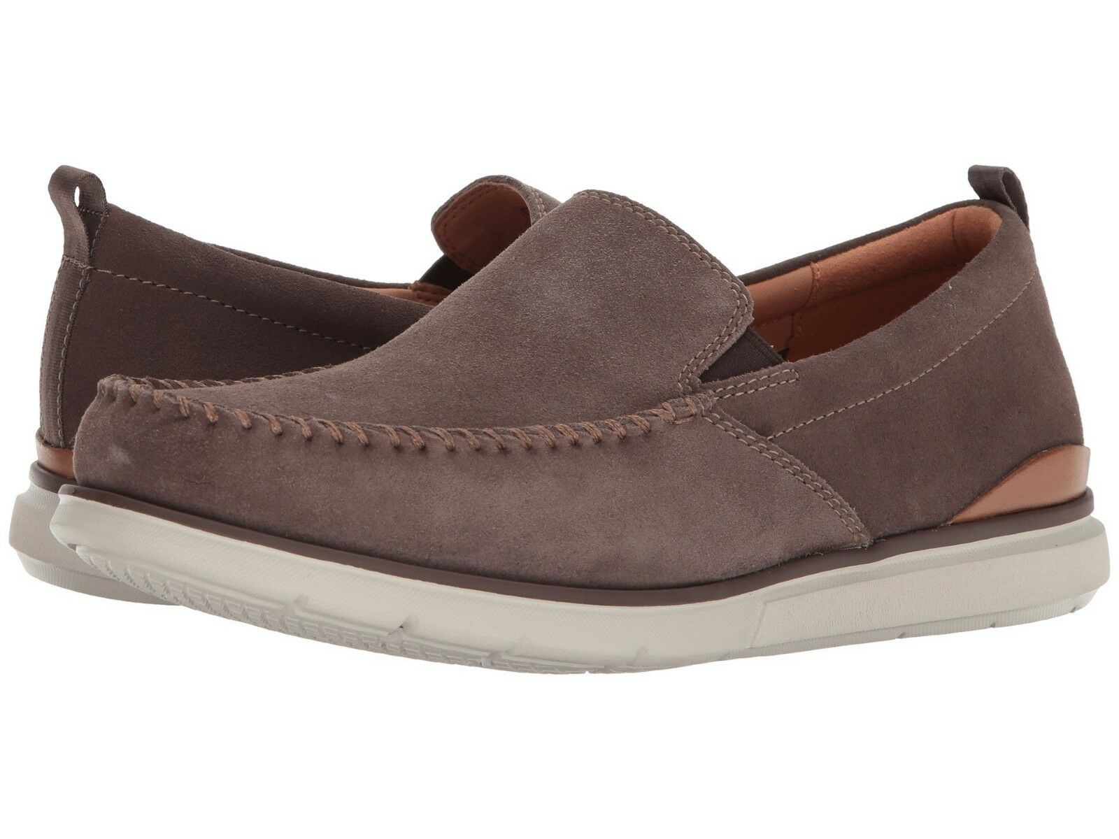 Men's Shoes Clarks Edgewood Step Casual Slip On 32498 Taupe Suede *New*