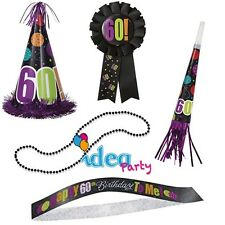 KIT PARTY 60 ANNI - 5 Accessori a tema - Gadget idea regalo festa 60° Compleanno