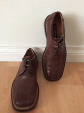 *Skecher Italian Euro Style Mens Brown Genuine Leather Oxford Shoes Size 9.