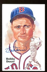 Bobby Doerr Signed Perez-Steele Postcard 3x5 Autographed Red Sox 54650