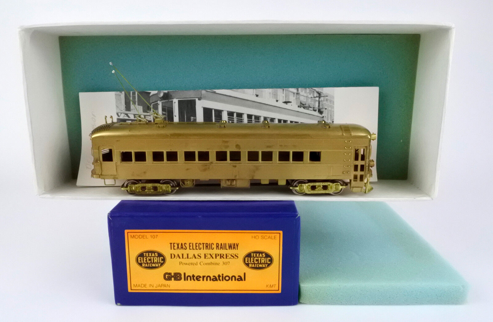 GHB HO SCALE BRASS TEXAS ELECTRIC RAILWAY DALLAS EXPRESS POWERED COMBINE