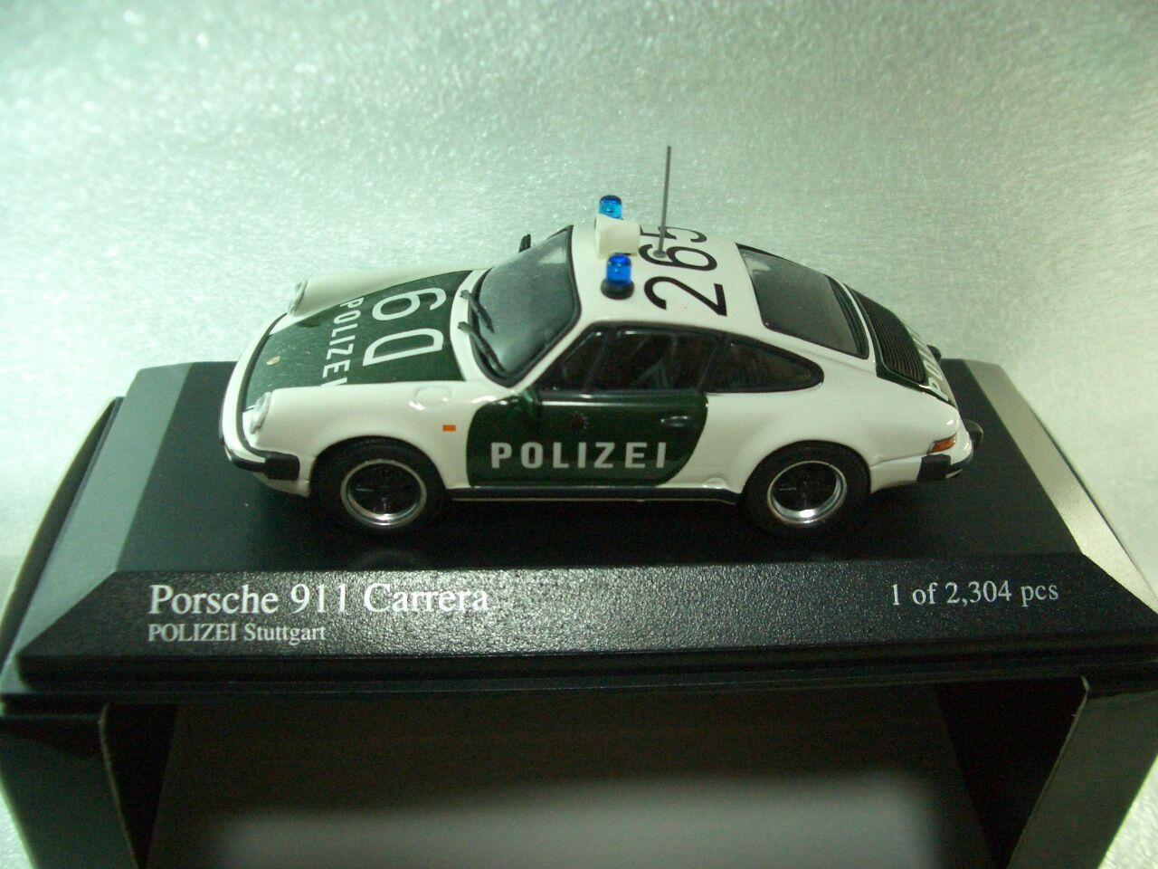 1 43 Minichamps Porsche 911 Carrera (1983) POLIZEI Stuttgart diecast