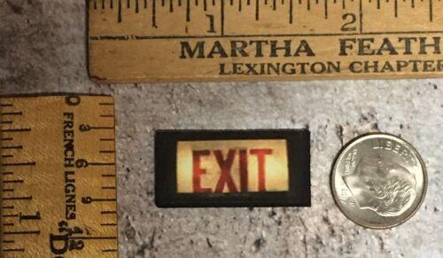 S245 Wood Exit Sign Halloween Dollhouse Miniature Hospital Asylum