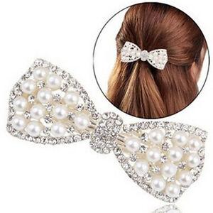 Fashion-Women-Girl-Crystal-Bow-Hair-Clip-Hairpin-Barrette-Head-Accessories