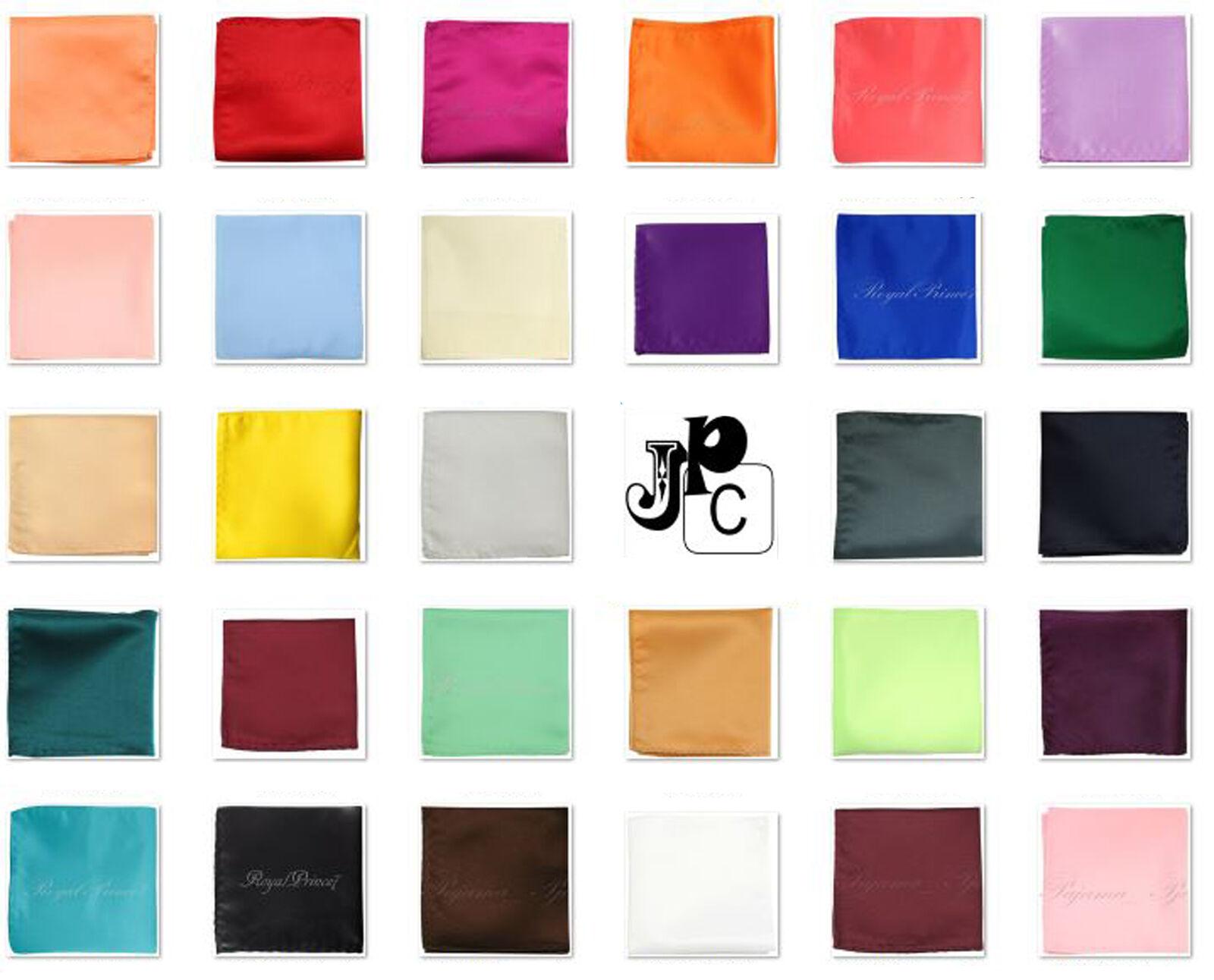 Neu Herren Solid Tasche Quadratische Taschentuch Nur 25.4x25.4cm Party Ball